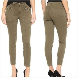 J Brand Distressed Trooper Olive Green Skinny Pant